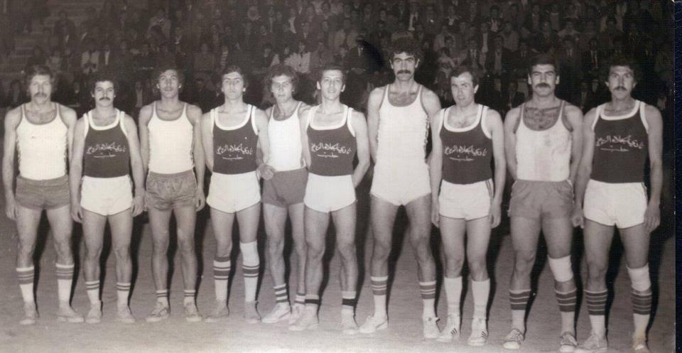 مباراة بين فريق الجيش السوري وفريق نادي الجلاء بكرة السلة عام 1978