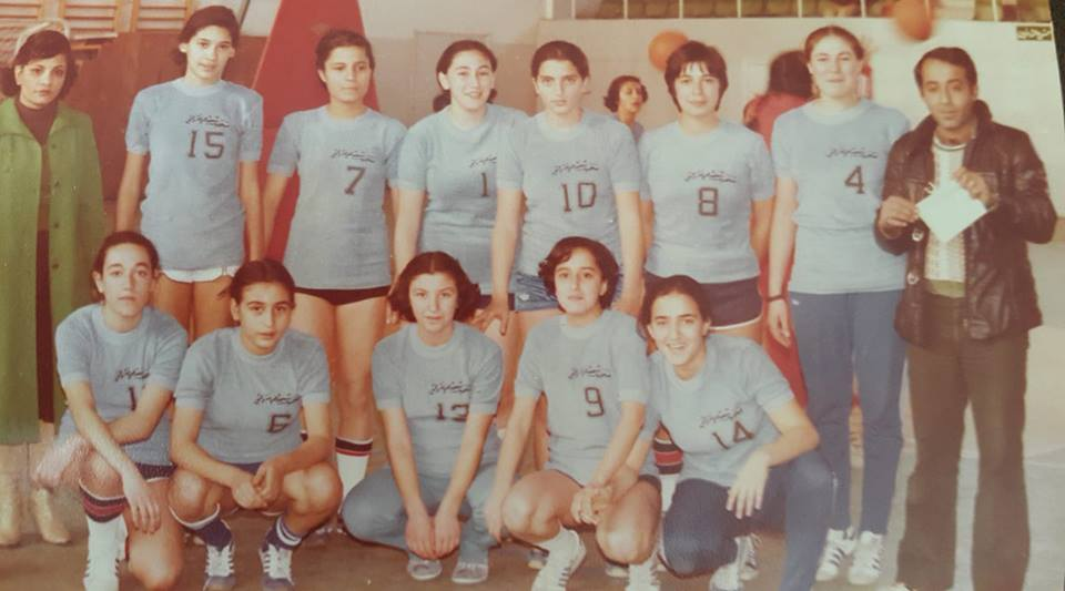 منتخب مدارس دمشق بكرة السلة للآنسات عام 1980