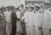 اللاذقية 1962 - الرئيس ناظم القدسي في زيارة للكلية البحرية (1)