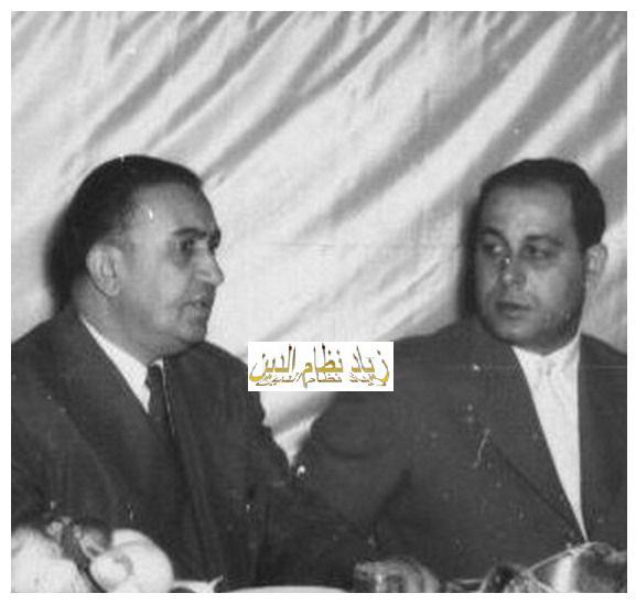 الزعيم توفيق نظام الدين والمقدم مصطفى حمدون
