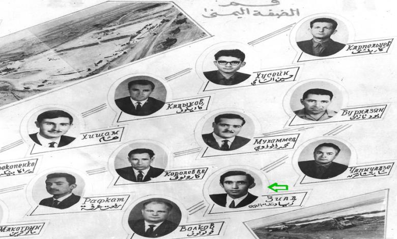 صورة سد الفرات – إدارة القطاع الترابي .. قسم الضفة اليمنى عام 1971