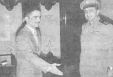 صورة زيارة توفيق نظام الدين رئيس الأركان السوري إلى الأردن عام 1956