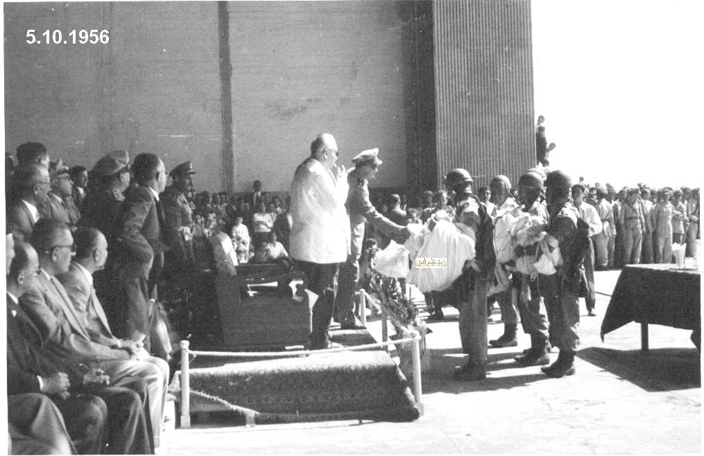 توفيق نظام الدين مع خريجي دورة ضباط القوى الجوية عام 1956