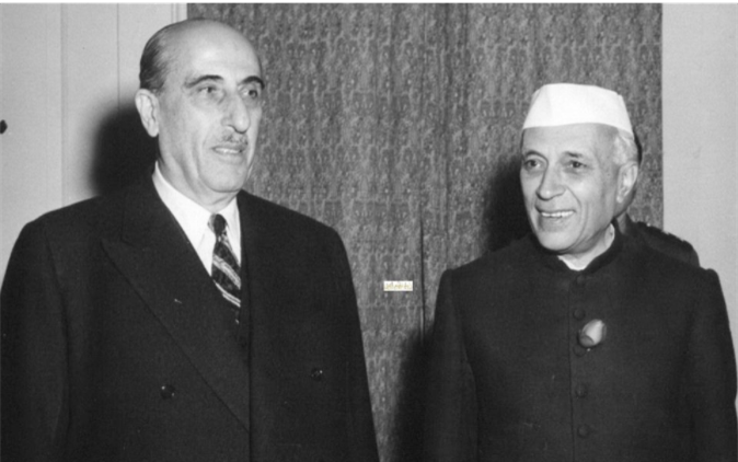 صورة زيارة شكري القوتلي إلى الهند عام 1957