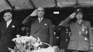 صورة الاحتفال بعيد الجلاء عام 1957