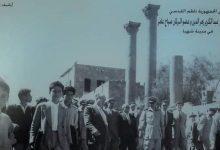 صورة عبد الكريم زهر الدين وعضو البرلمان صياح عامر في شهبا – السويداء