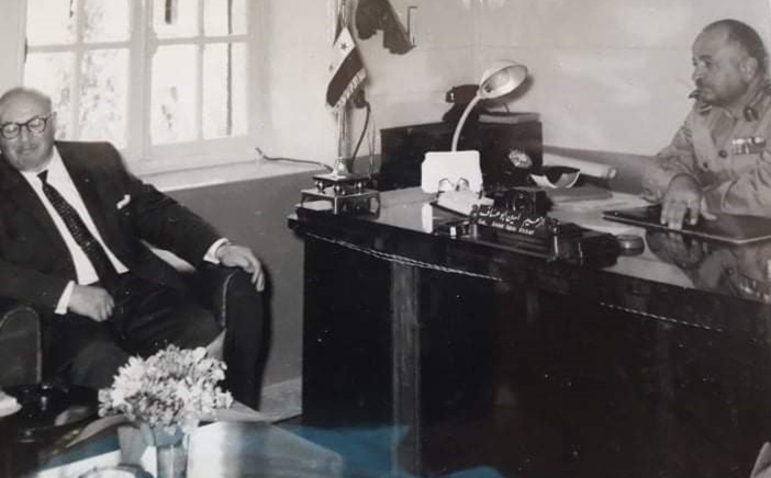صورة الزعيم أمين أبو عساف وصبري العسلي
