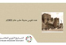 صورة عدد نفوس مدينة حلب عام 1901م