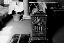 صورة مدفأة (صوبيا) تفصيل في أحد منازل حي ساروجة مدينة دمشق عام 1992
