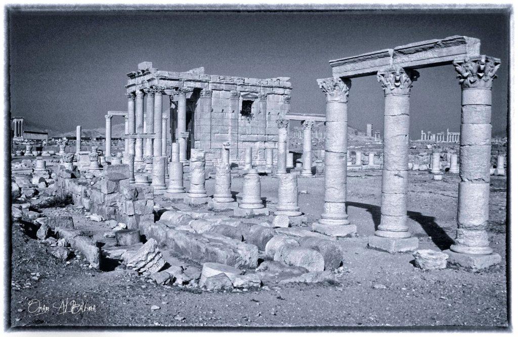 معبد بعل شامين في مدينة تدمر عام 1993
