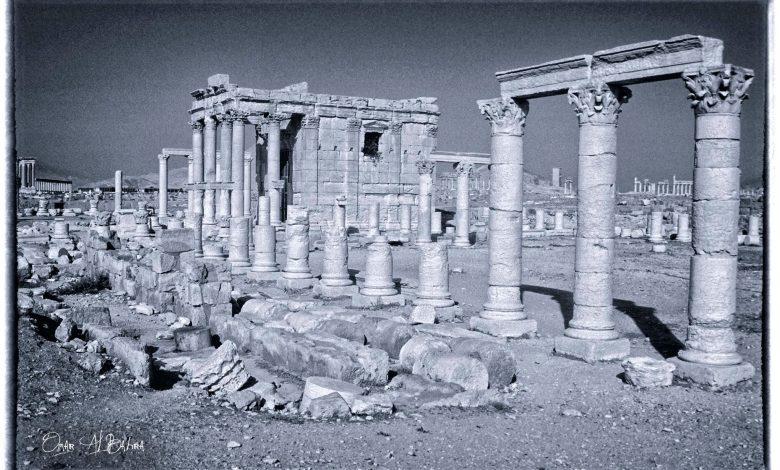 صورة معبد بعل شامين في مدينة تدمر عام 1993