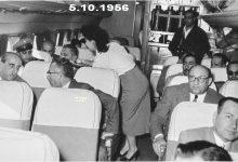 صورة شكري القوتلي في الطائرة إلى حفل تخريج دورة ضباط القوى الجوية 1956