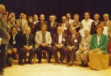 صورة سعد الله آغا القلعة مع المشاركين في الدورة الأولى لمؤتمر الموسيقى العربية عام 1992