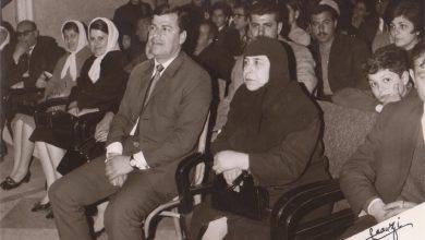 صورة حفل توزيع الجوائز في إعدادية الحكمة في حلب عام 1970