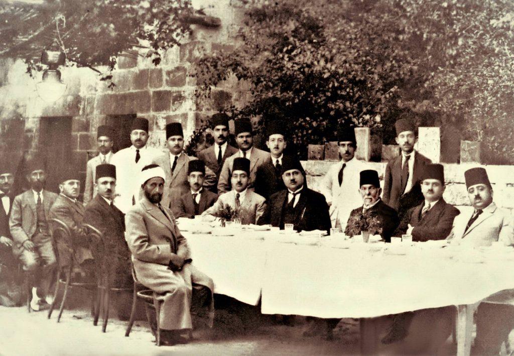 الدكتور رضا سعيد في ضيافة مرعي باشا الملاح عام 1925
