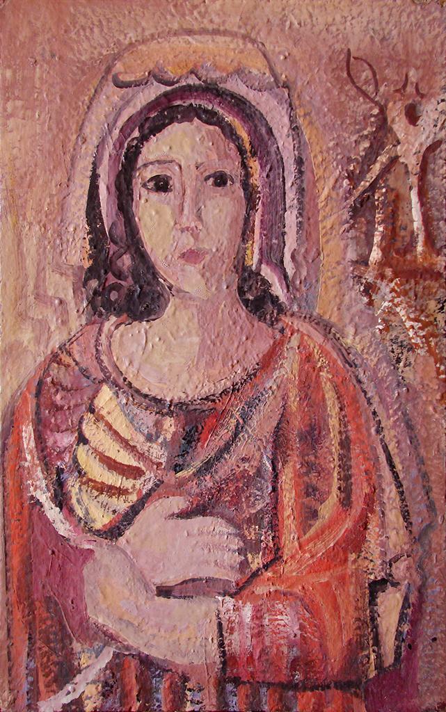 لوحة (بورتريه)للفنان أحمد مادون (31)