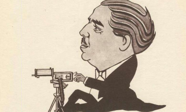 صورة كاريكاتير – أحمد الشرباتي عام 1947