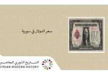 صورة أسعار الدولار في سورية 1941- 2000