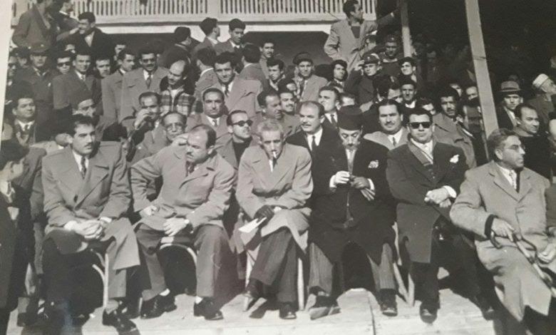 صورة مطار النيرب 1956- حفل تخريج دورة المظليين