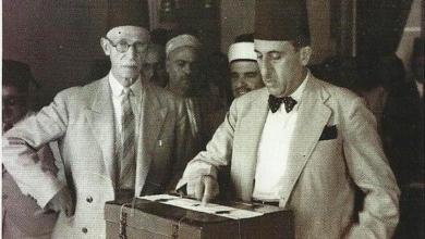 صورة شكري القوتلي في انتخابات عام 1947