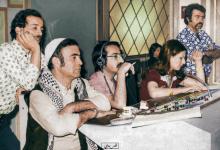 صورة صور تاريخية ملونة – دريد لحام ومحمد العقاد خلف الكواليس