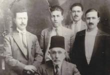 صورة عبد الرحمن آغا الشيشكلي وأبناؤه الثلاثة