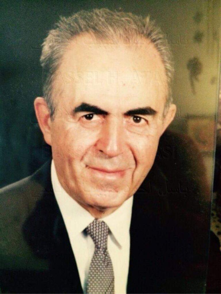 الرئيس نور الدين الأتاسي قبيل وفاته عام 1992