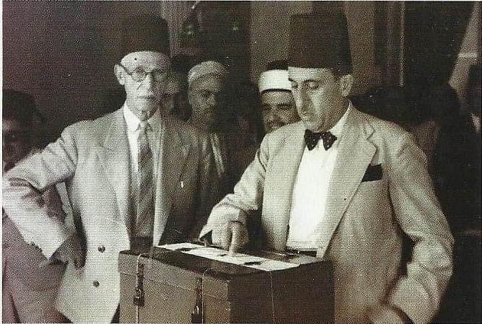 شكري القوتلي في انتخابات عام 1947