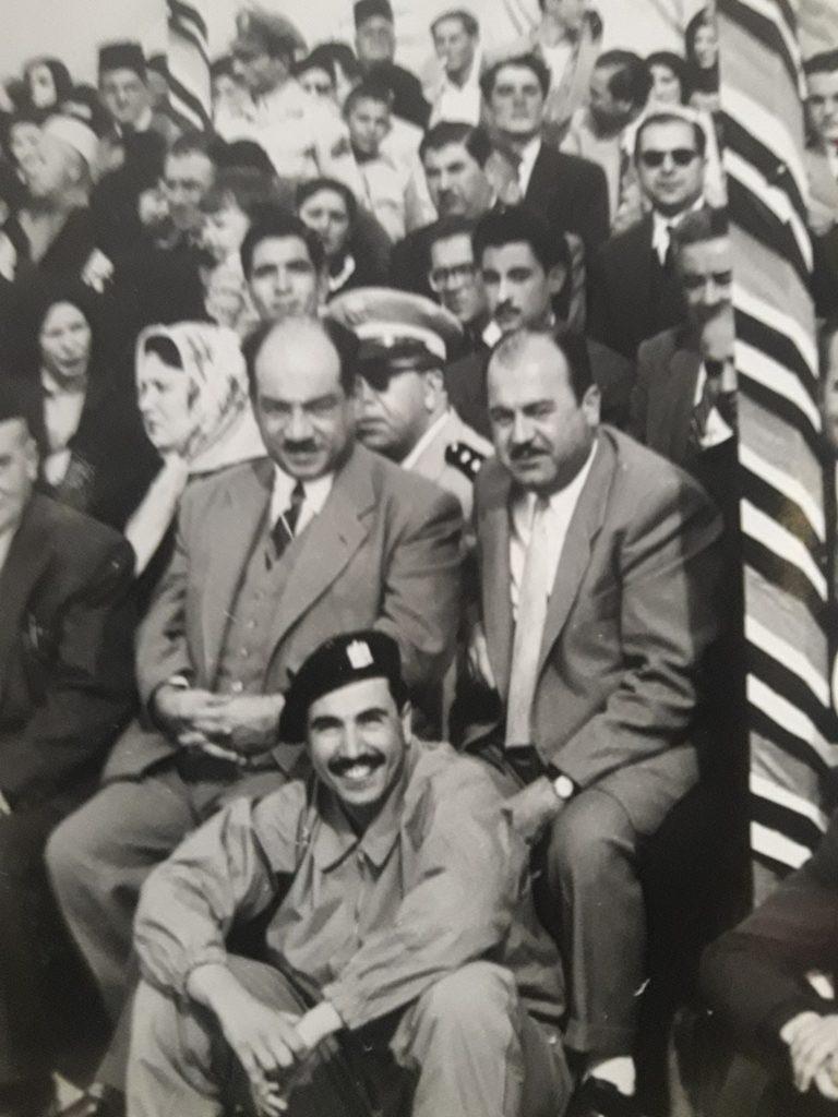 عدنان محي الدين وبسام العسلي في حفل تخريج دورة المظليين