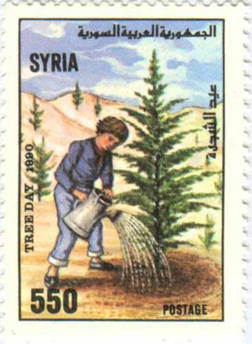 طوابع سورية 1990 - عيد الشجرة
