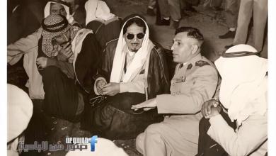 صورة أديب الشيشكلي ومجحم بن مهيد عام 1951