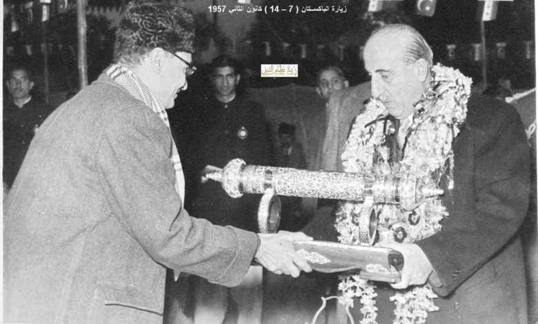 صورة زيارة شكري القوتلي إلى الباكستان عام 1957 (16/16)