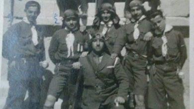 صورة دمشقيون مع كشاف دمشق في رحلة إلى بعلبك عام 1923