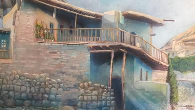 صورة معلولا التسعينات .. لوحة للفنان خالد الأسود (2)