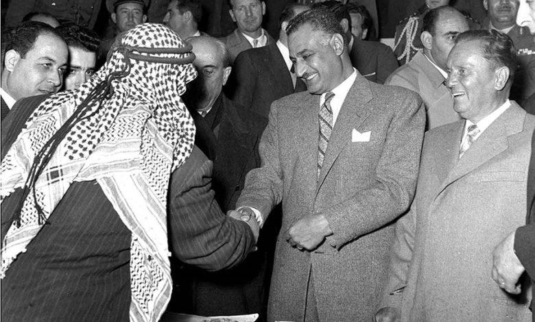 صورة آذار 1958 – من زيارة جمال عبد الناصر إلى سورية (1)