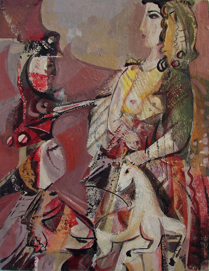 لوحة من وحي تدمرللفنان أحمد مادون (33)