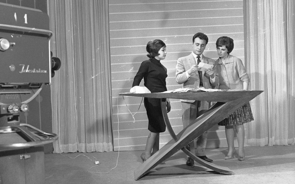 خلدون المالح في أول برنامج مسابقات في التلفزيون السوري عام 1960