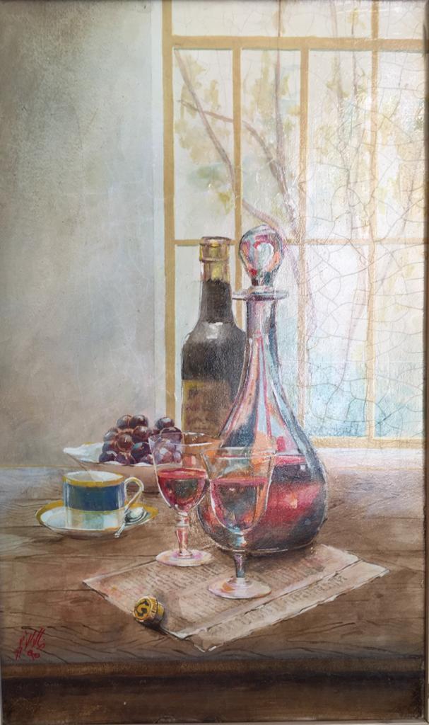 اليوم خمر وغداً أمر .. لوحة للفنان خالد الأسود (1)