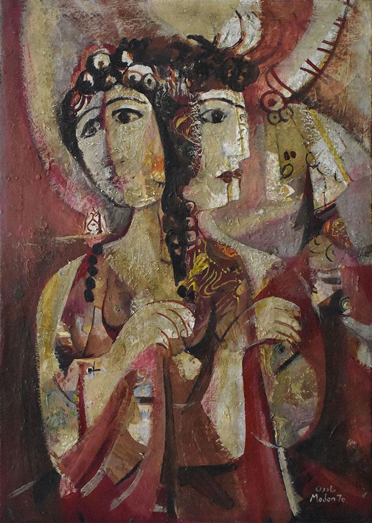 لوحة وجوه للفنان أحمد مادون (35)