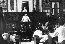 صورة أول خطاب للرئيس شكري القوتلي بعد انتخابه عام 1943