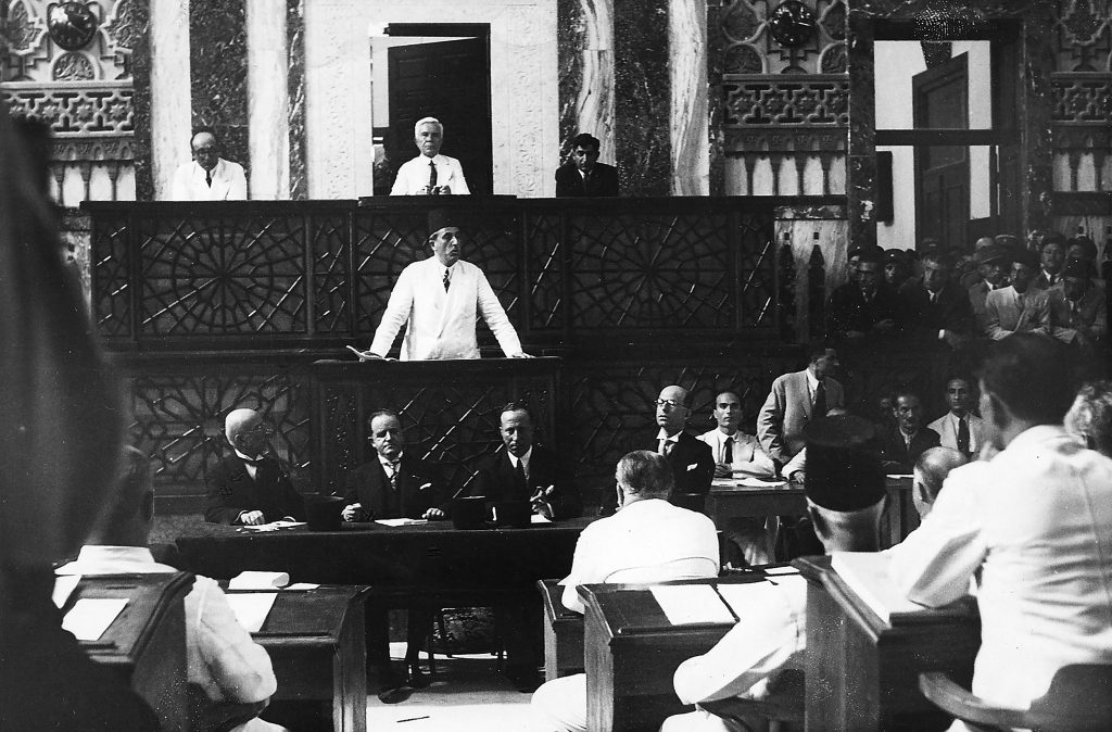 أول خطاب للرئيس شكري القوتلي بعد انتخابه عام 1943