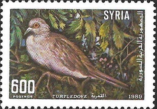 طوابع سورية 1989- الطيور