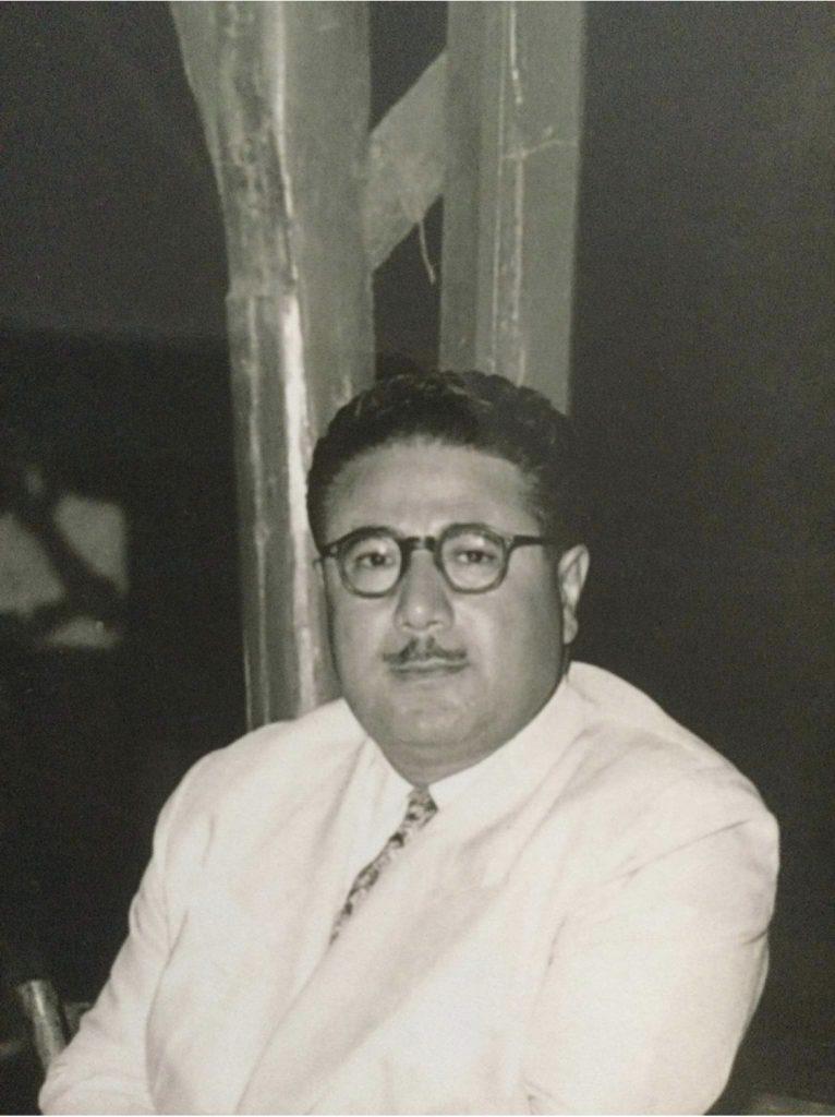 عبدالقادر آغا برمدا في خمسينيات القرن العشرين