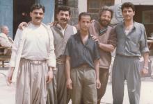 صورة فارس الحلو وماهر صليبي مع المخرج محمد ملص عام 1991م