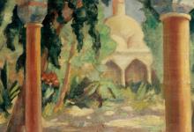 صورة تكية السلطان سليم بدمشق .. لوحة للفنان محمود حماد (5)