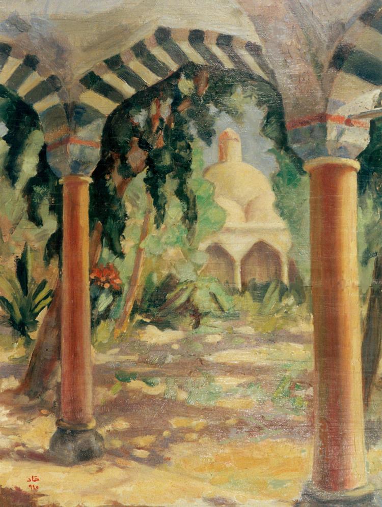 تكية السلطان سليم بدمشق .. لوحة للفنان محمود حماد (5)