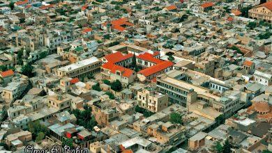 صورة دمشق القديمة – مكتب عنبر وكنيسة المريمية عام 1993