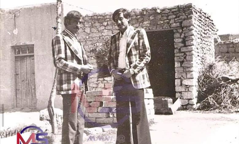صورة إبراهيم الكنو وعلى الجديان –  الرقة 1975