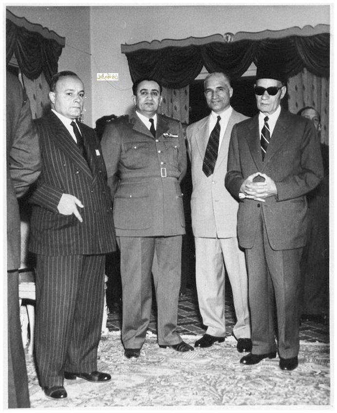 الزعيم توفيق نظام الدين وطه حسين في دمشق عام 1955