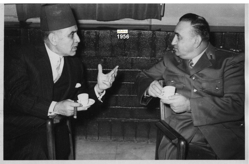 اللواء توفيق نظام الدين وصائب سلام عام 1956